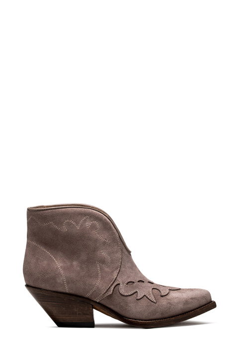 BUTTERO: ELISE LOW TOP DURANGO BOOTS IN SPHINX SUEDE