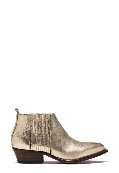 BUTTERO: PLATINUM LAMINATED LEATHER TRES LOW TOP DURANGO BOOTS