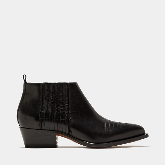 BUTTERO: BLACK LEATHER TRES LOW TOP DURANGO BOOTS