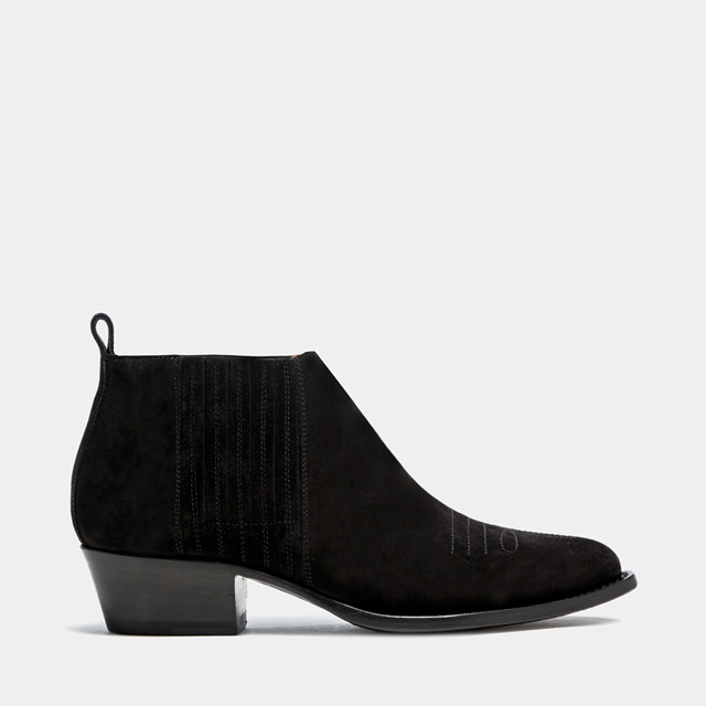 BUTTERO: TRES LOW TOP DURANGO BOOTS COLOR BLACK