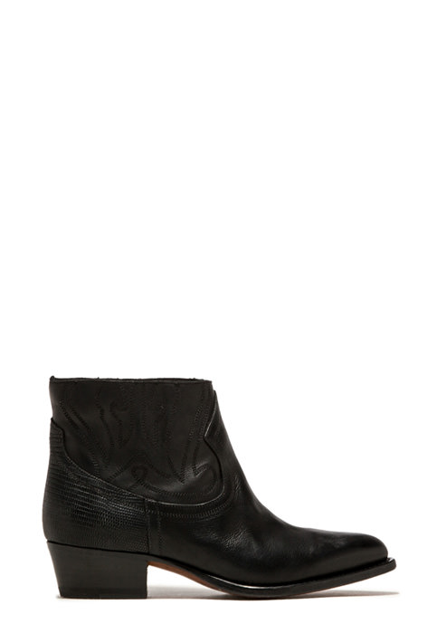 BUTTERO: BLACK LEATHER TRES DURANGO BOOTS  (B7240VARC-DC1/C)
