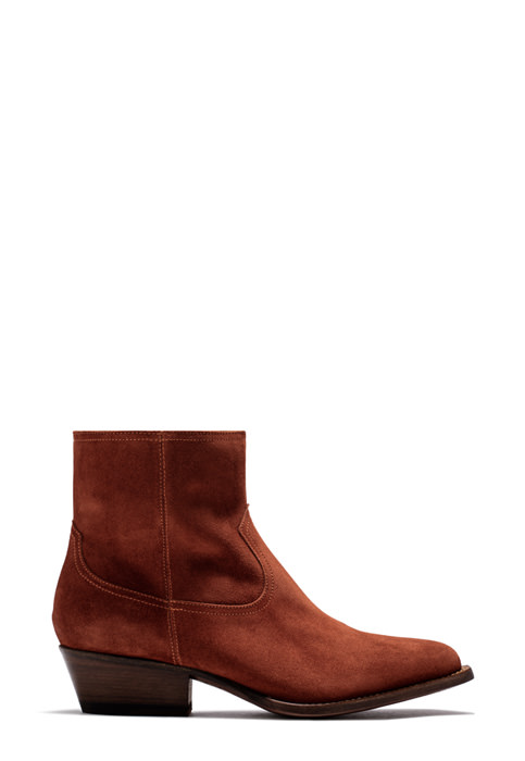 BUTTERO: TRES DURANGO BOOTS IN SUEDE COLOR BRANDY (B8620LIG-DC1/69)