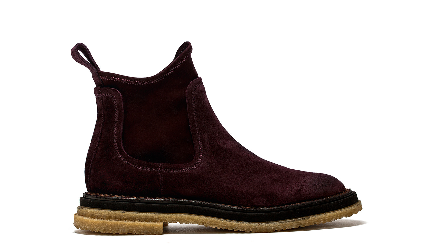 BUTTERO: CHELSEA BOOTS SUPER IN SUEDE AMARONE