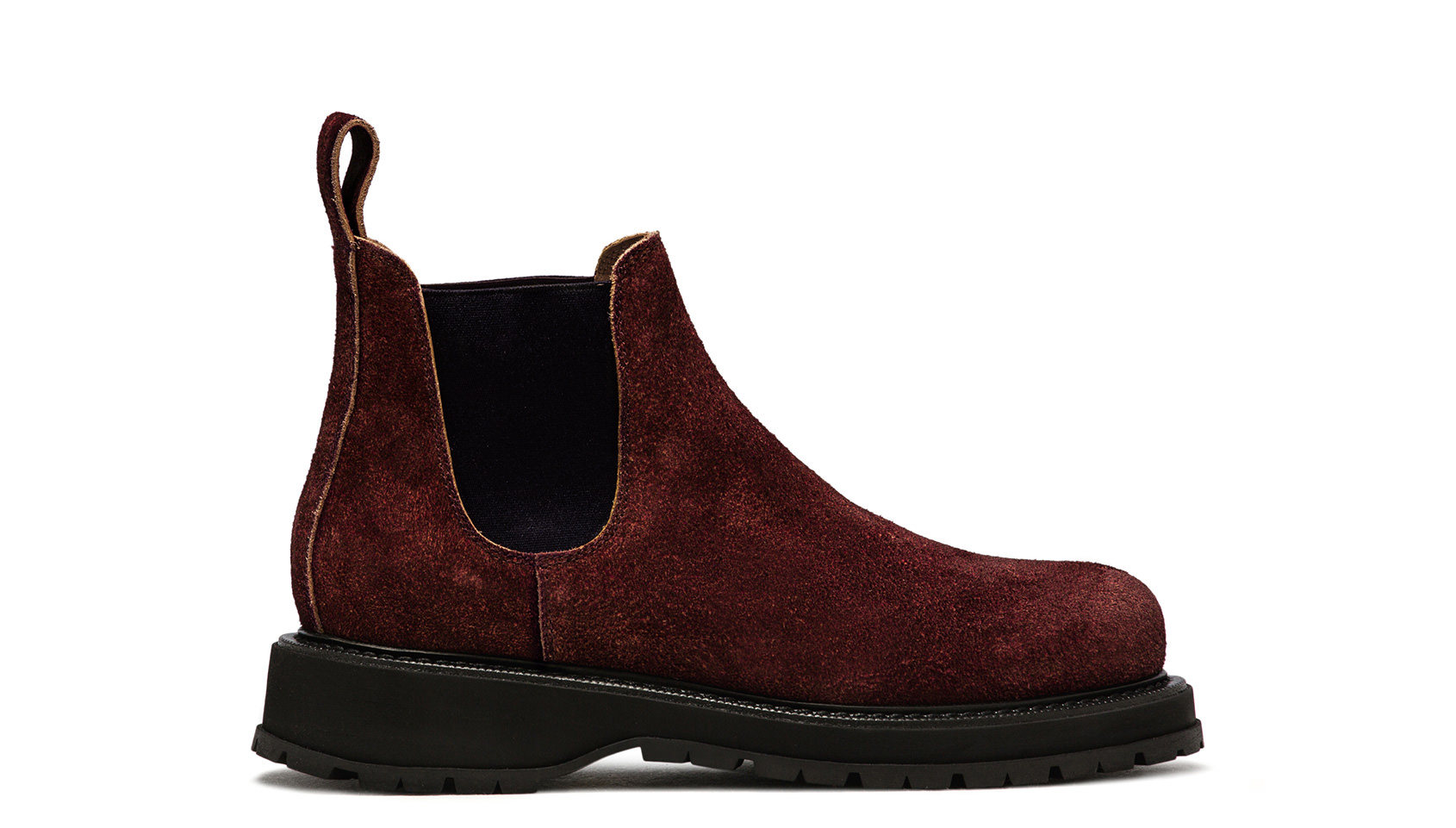 BUTTERO: ZENO CHELSEA BOOTS IN DARK CHILE MONKEY CALF LEATHER