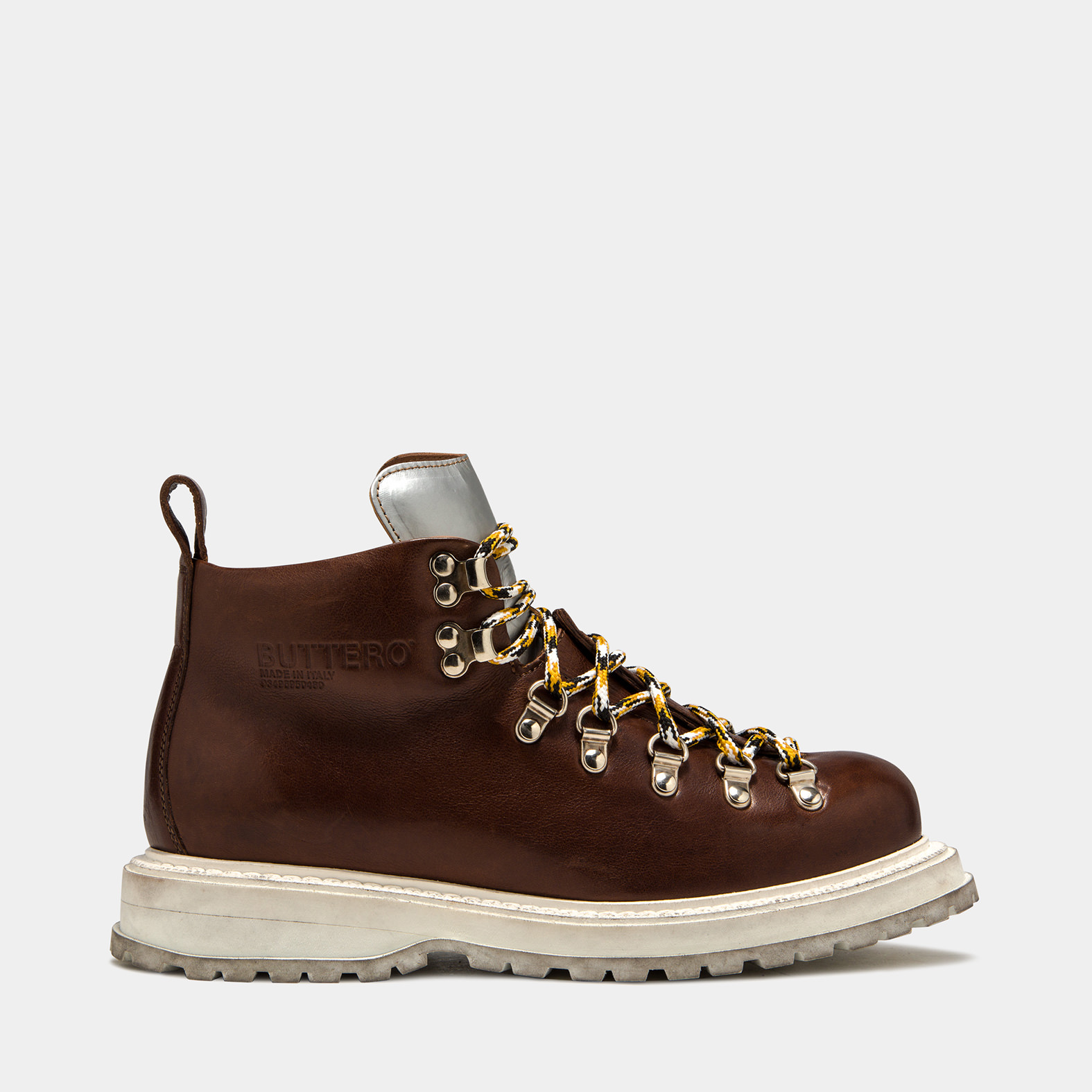 BUTTERO: ZENO HIKING BOOTS IN COTTO LEATHER