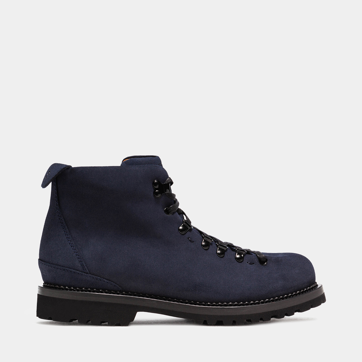 BUTTERO: CANALONE HIKING BOOTS IN BLUE SUEDE