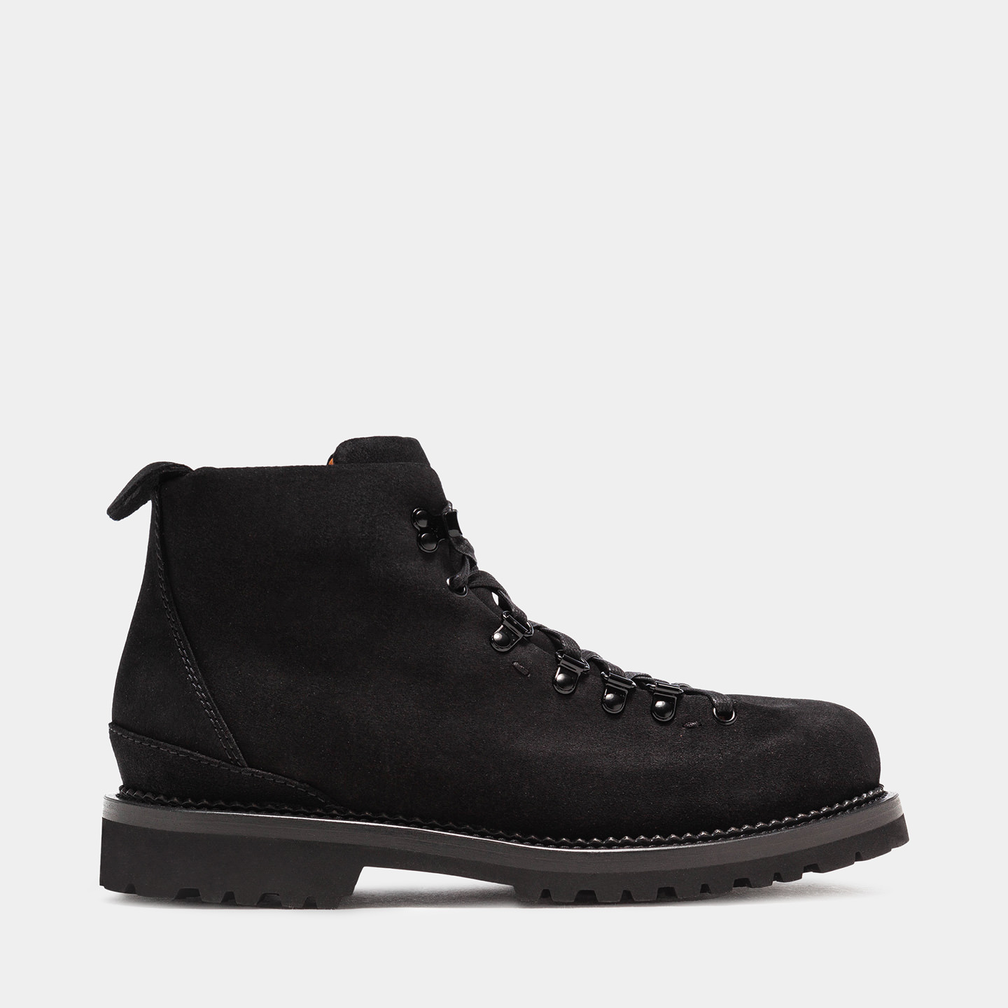 BUTTERO: CANALONE HIKING BOOTS IN BLACK SUEDE