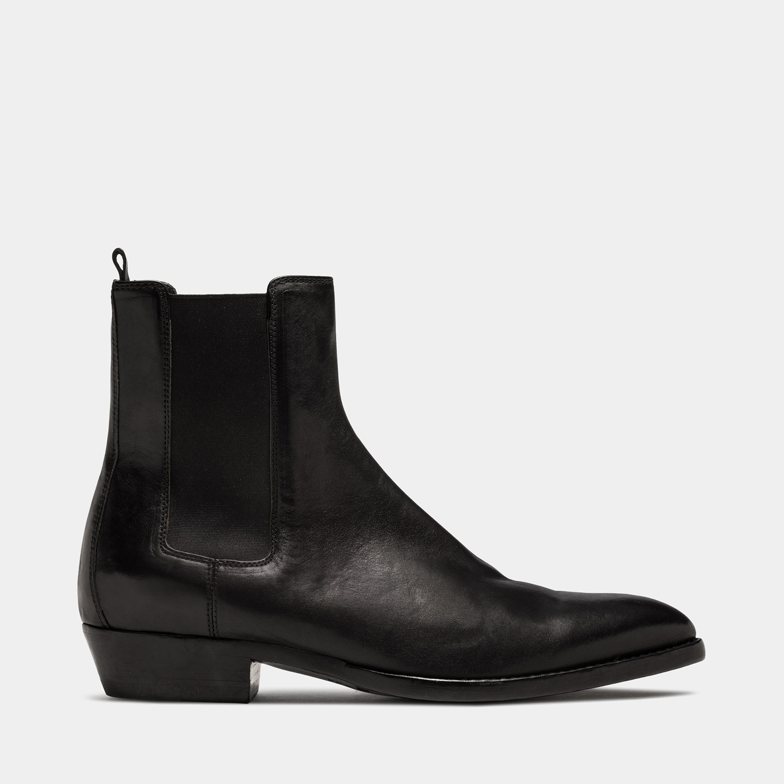 BUTTERO: FARGO ANKLE BOOTS IN BLACK LEATHER