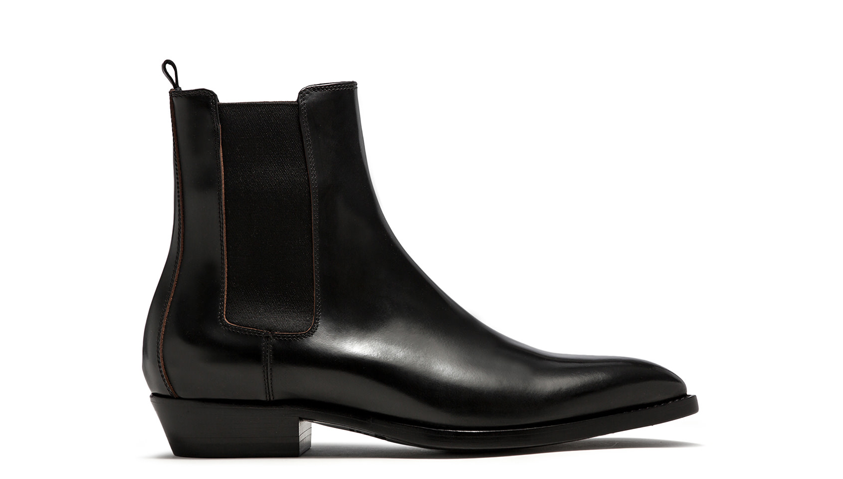 BUTTERO: BLACK LEATHER FARGO ANKLE BOOTS