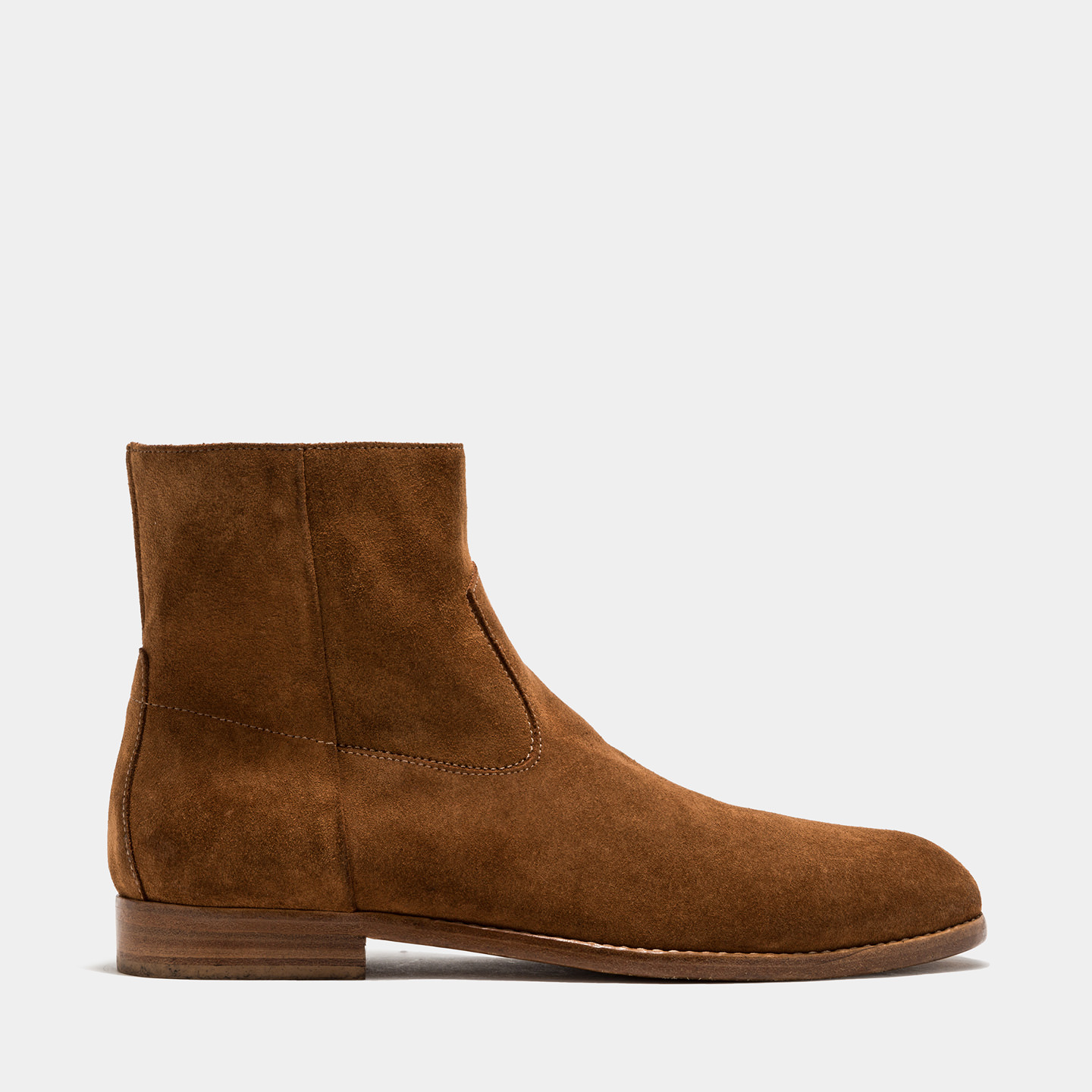 BUTTERO: FLOYD ANKLE BOOTS IN LIGHT BROWN SUEDE