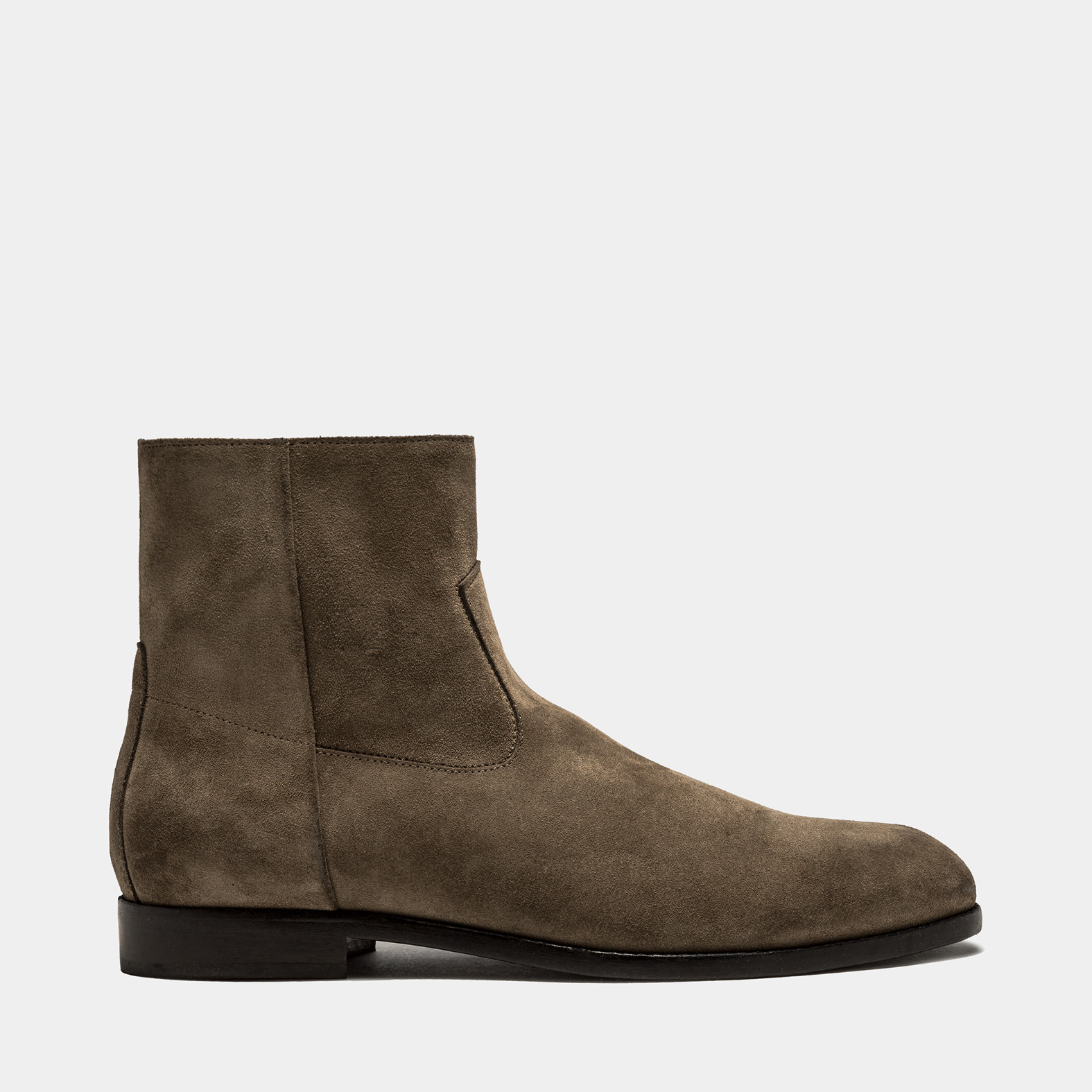 BUTTERO: FLOYD ANKLE BOOTS IN FOREST GREEN SUEDE