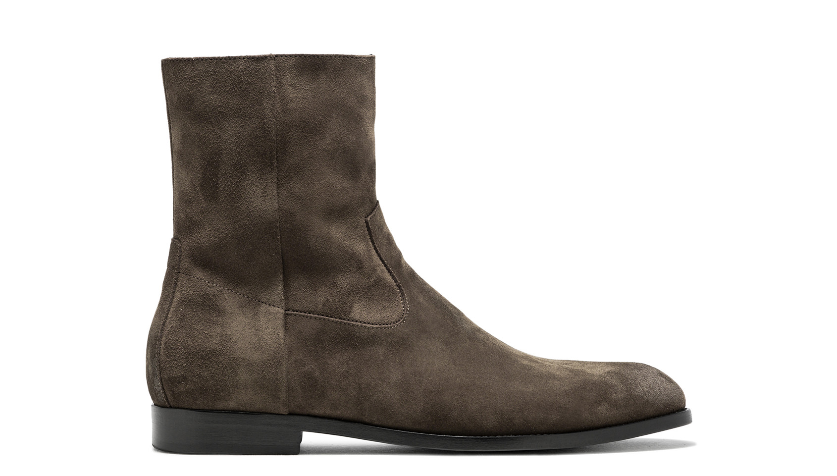 BUTTERO: FOREST GREEN SUEDE FLOYD ANKLE BOOTS