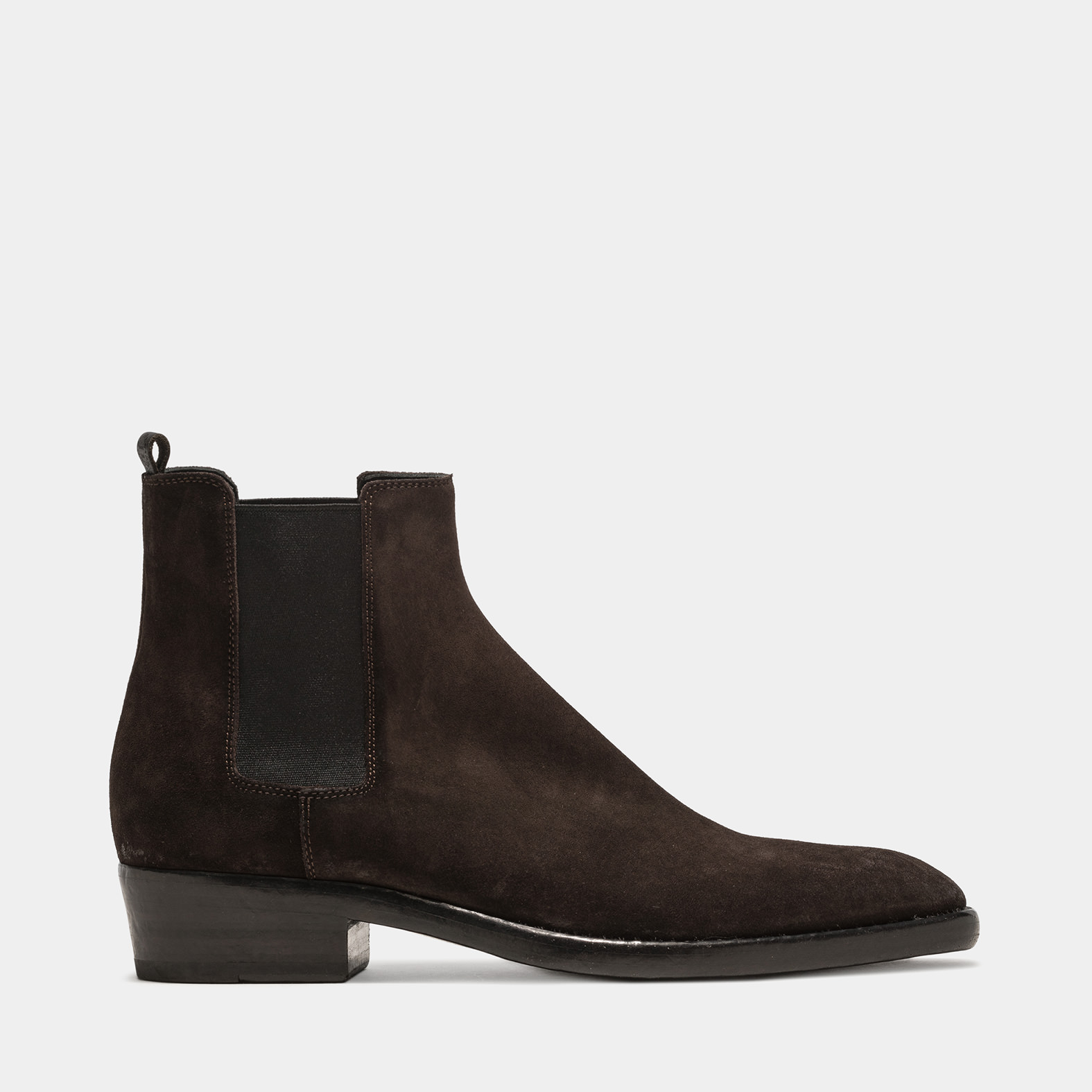 BUTTERO: QUENTIN ANKLE BOOTS IN PEPPER BROWN SUEDE
