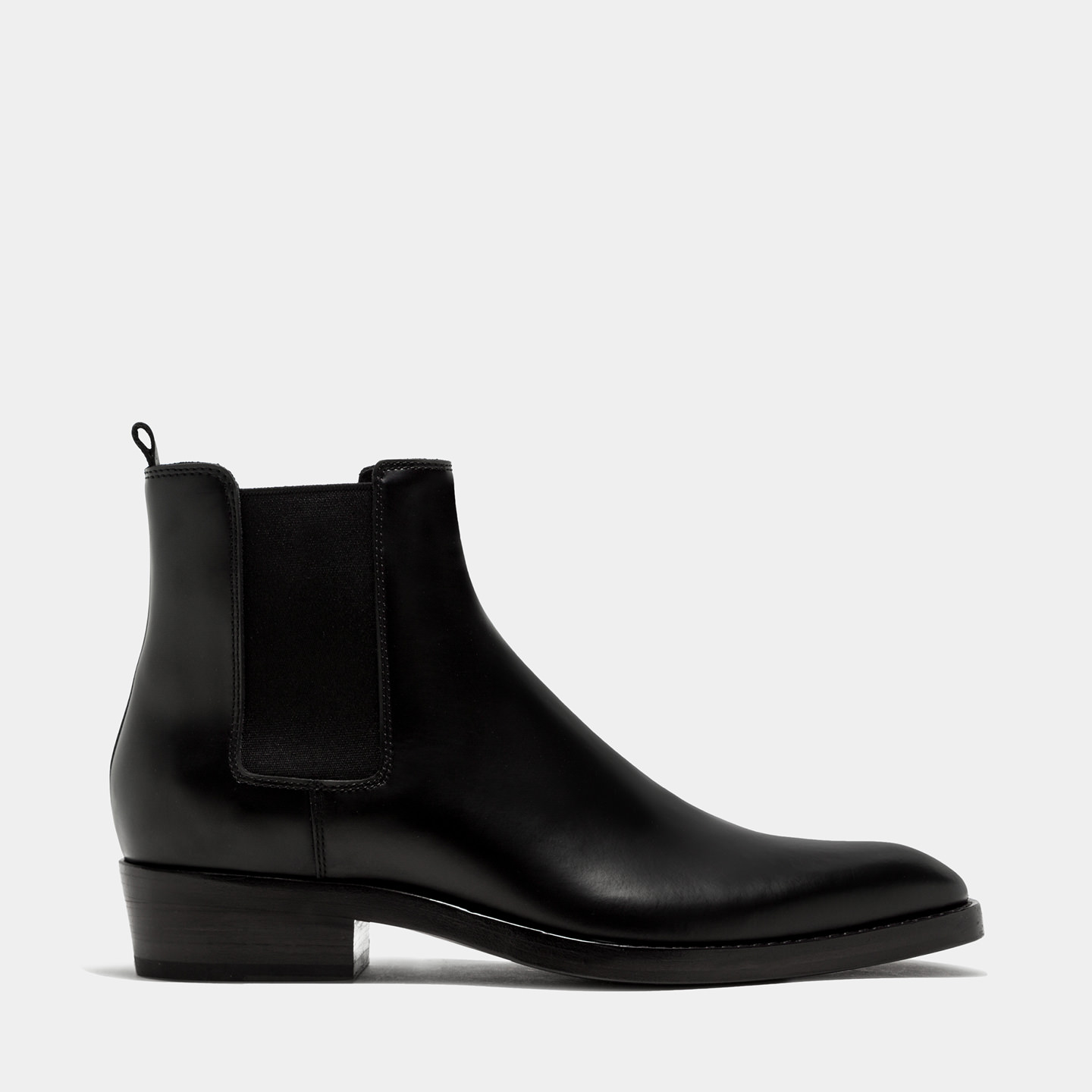 BUTTERO: QUENTIN ANKLE BOOTS IN BLACK BRUSHED LEATHER