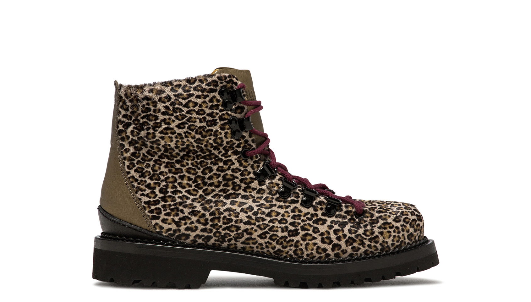 BUTTERO: LEOPARD PRINTED PONYSKIN CANALONE LACE-UP BOOTS