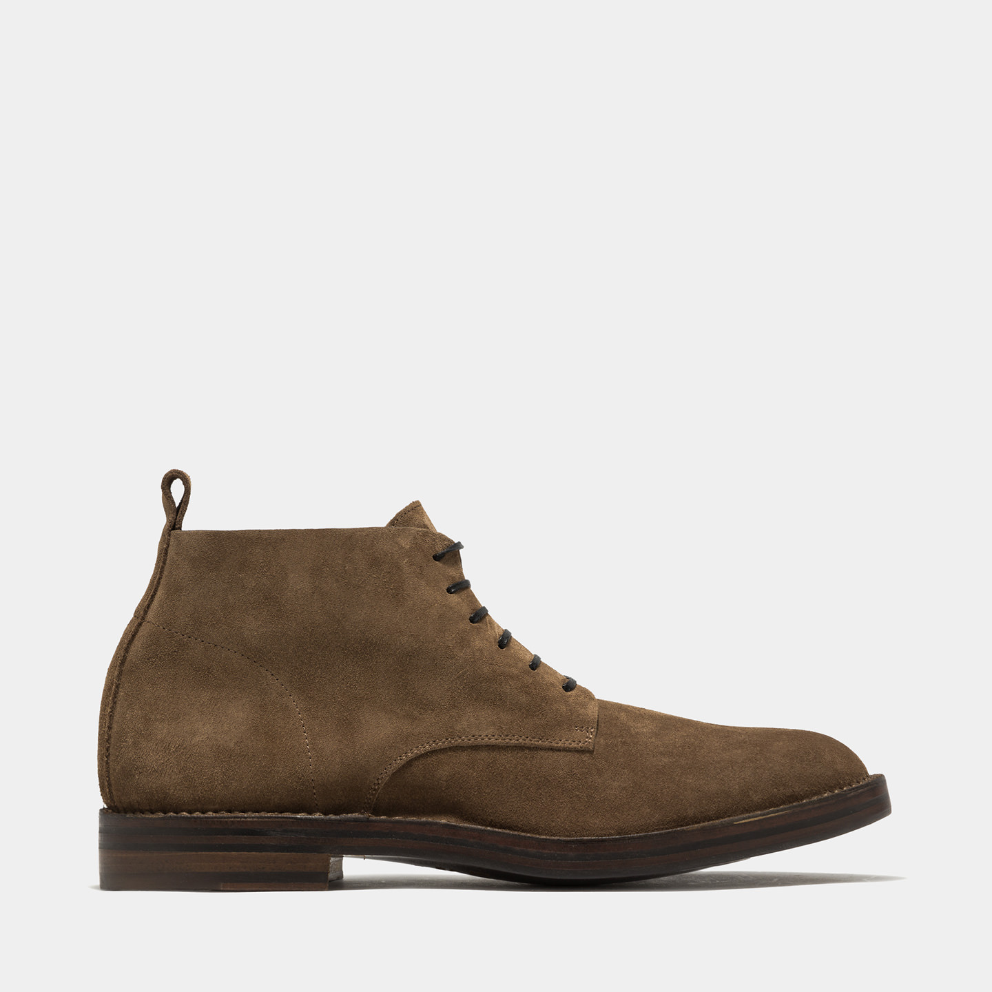 BUTTERO: IDEA HIGH LACED BOOTS COLOR TOBACCO