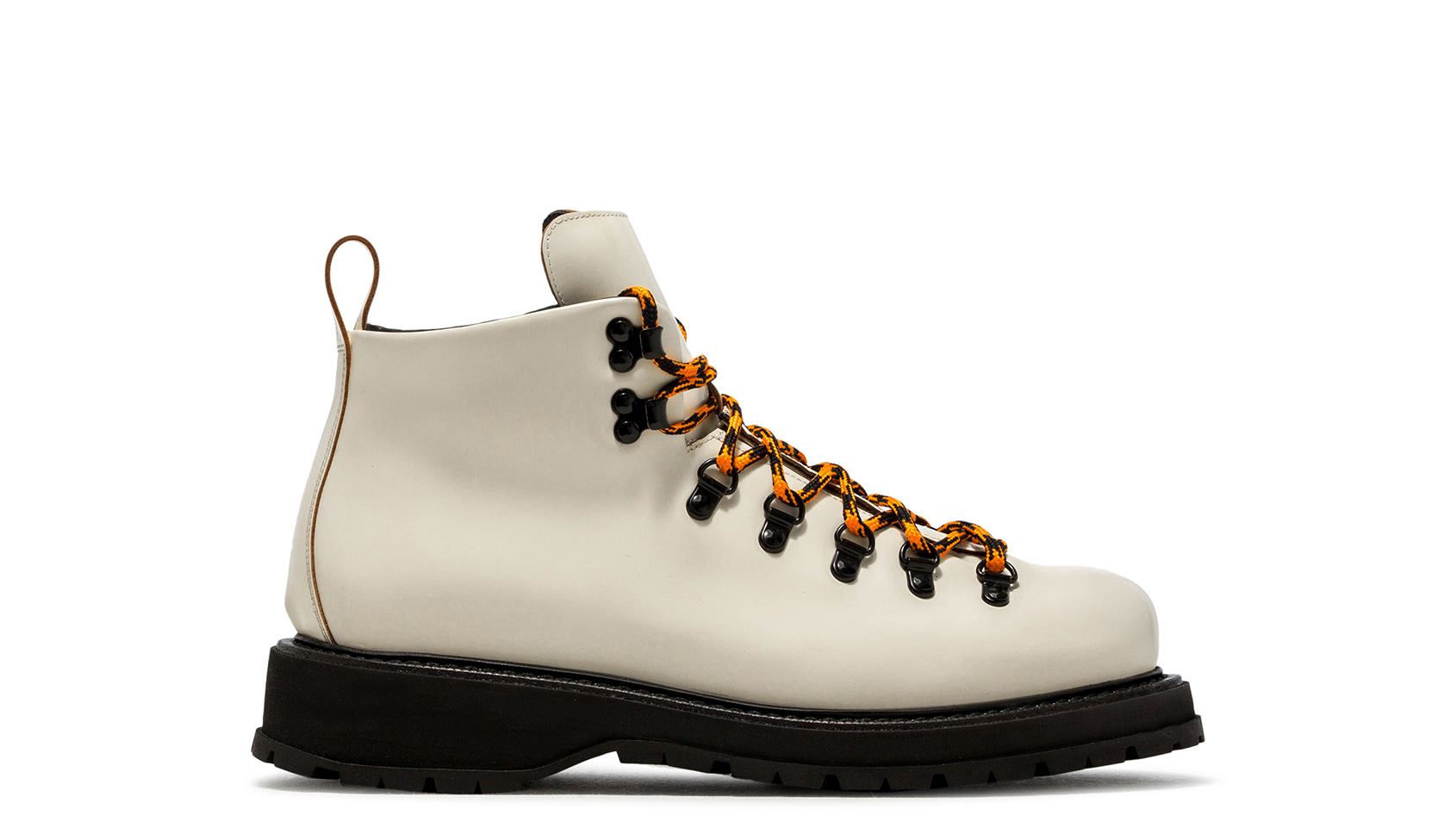 BUTTERO: HIKING BOOTS ZENO IN PELLE BIANCO