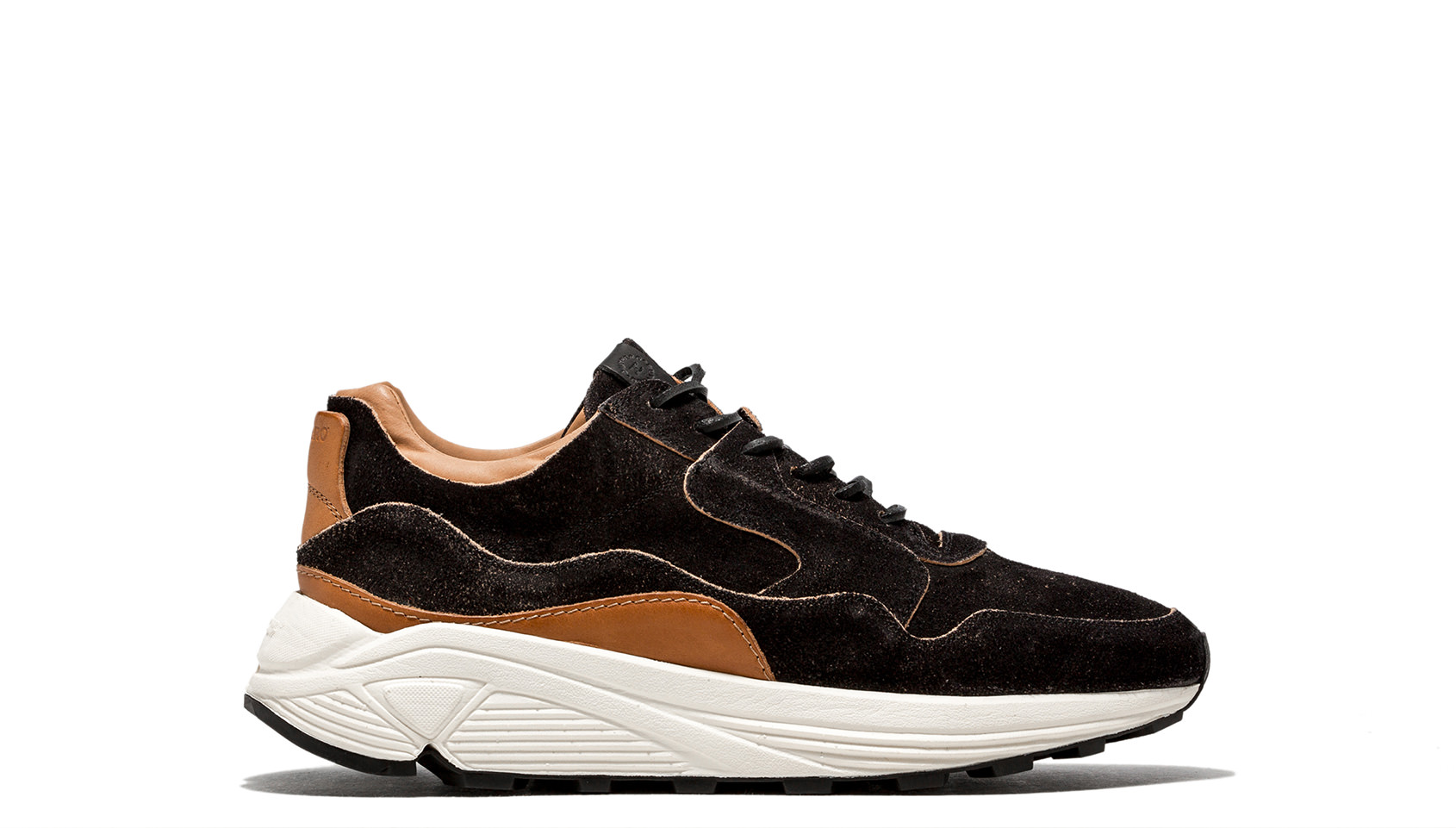BUTTERO: VINCI RUNNING IN BLACK MONKEY CALF LEATHER