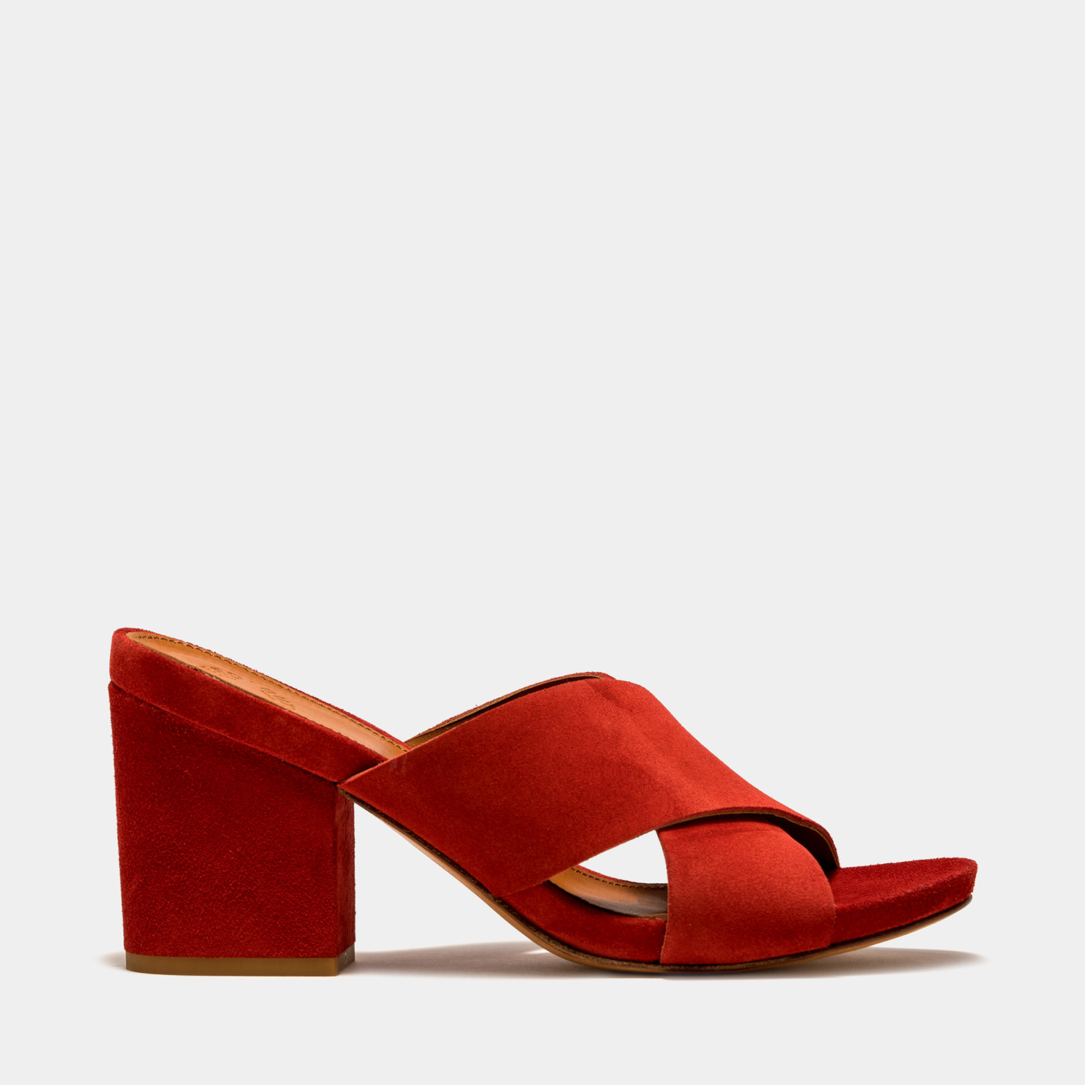 BUTTERO: ALISON SANDALS IN RED SUEDE