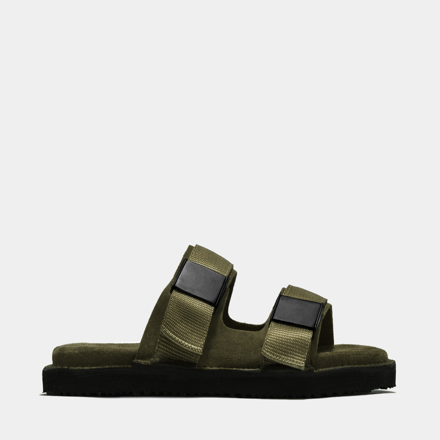 BUTTERO: ROULOTTE SANDALS IN GREEN SUEDE