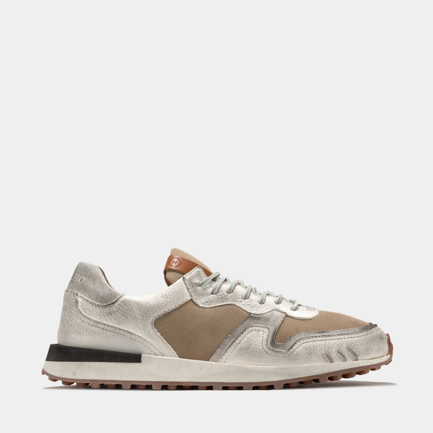 BUTTERO: FUTURA SNEAKERS IN NYLON MESH AND SUEDE COLOR WHITE