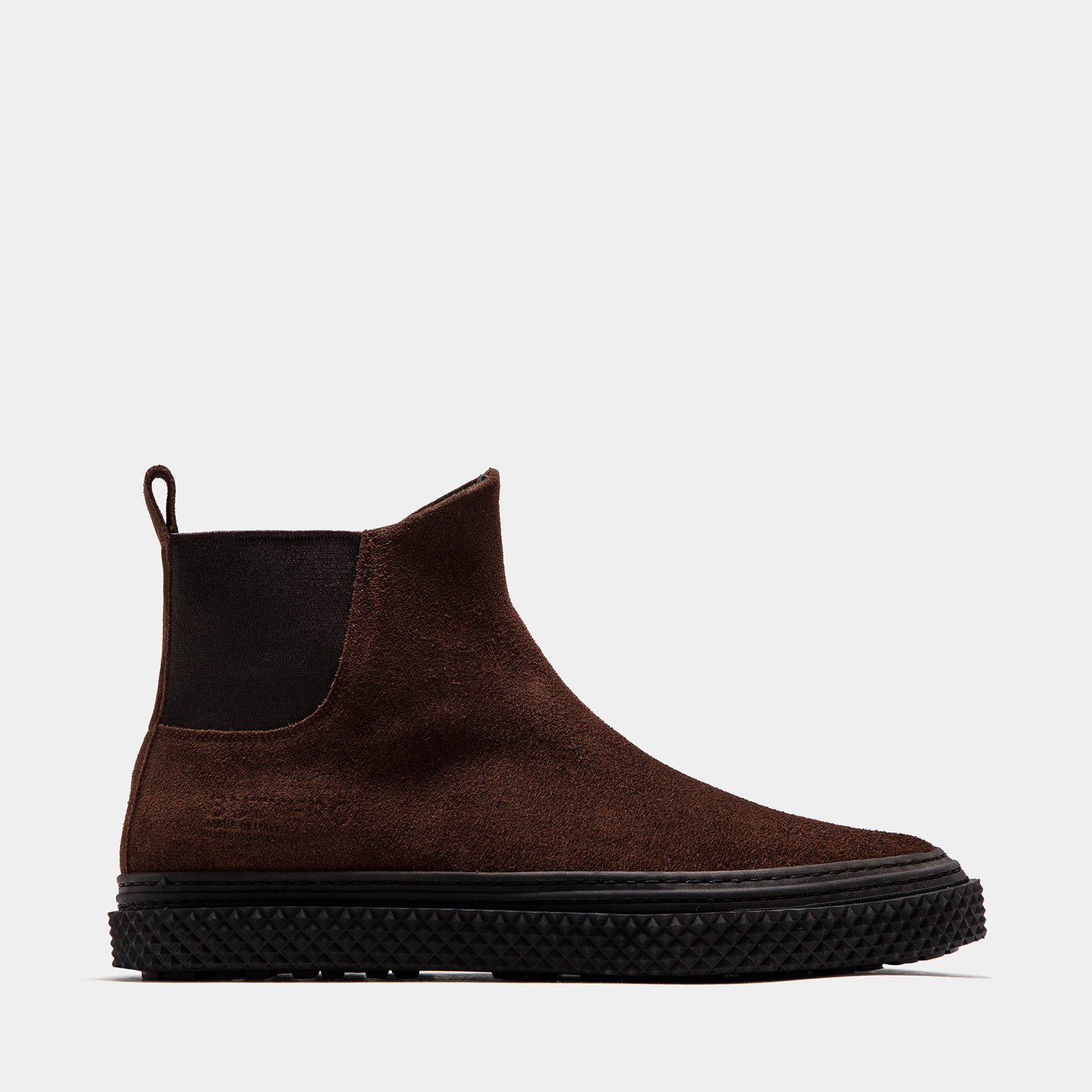 BUTTERO: SNUFF BROWN SUEDE COLLODI CHELSEA BOOTS