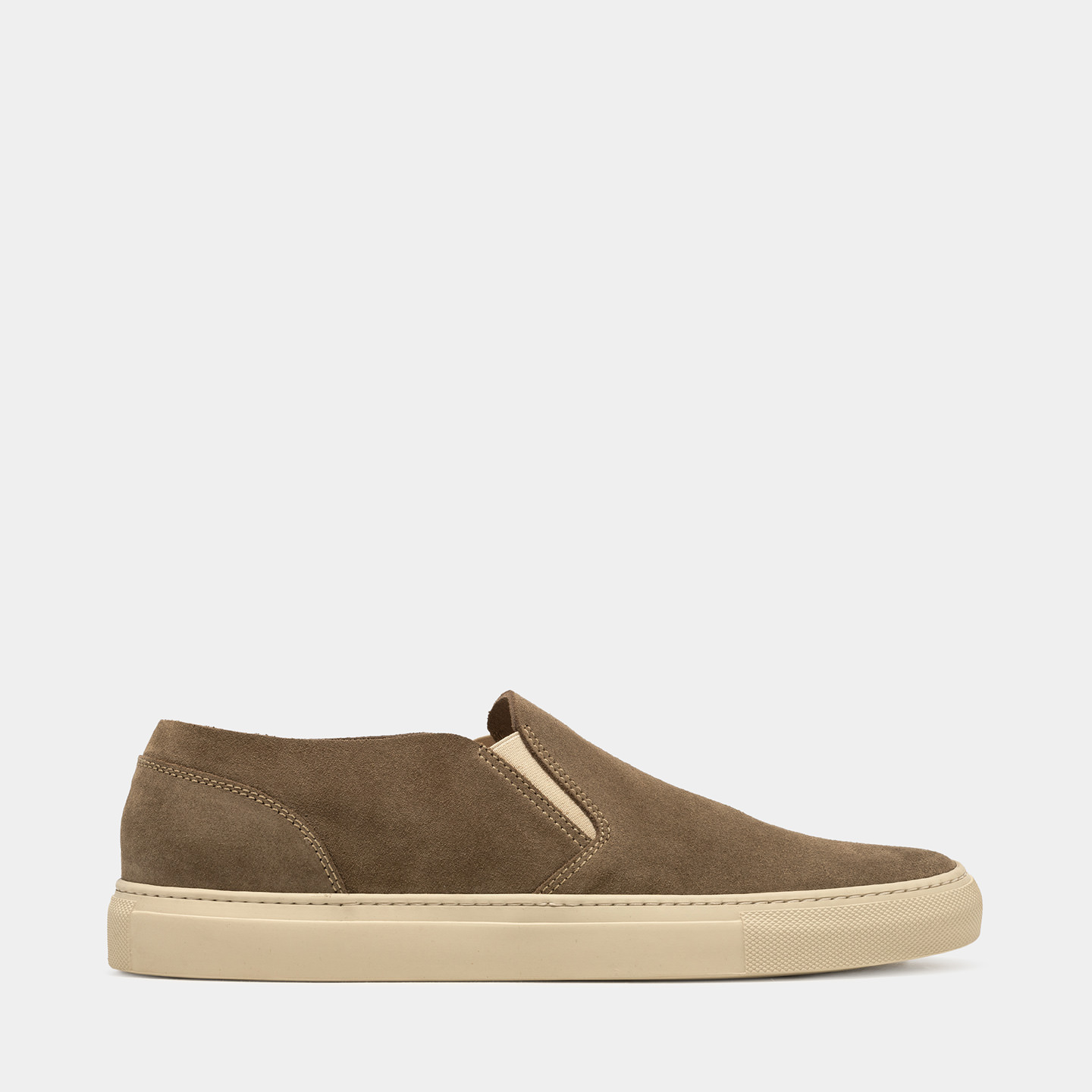 BUTTERO: TANINO SLIP ON SHOES IN GRAY SUEDE