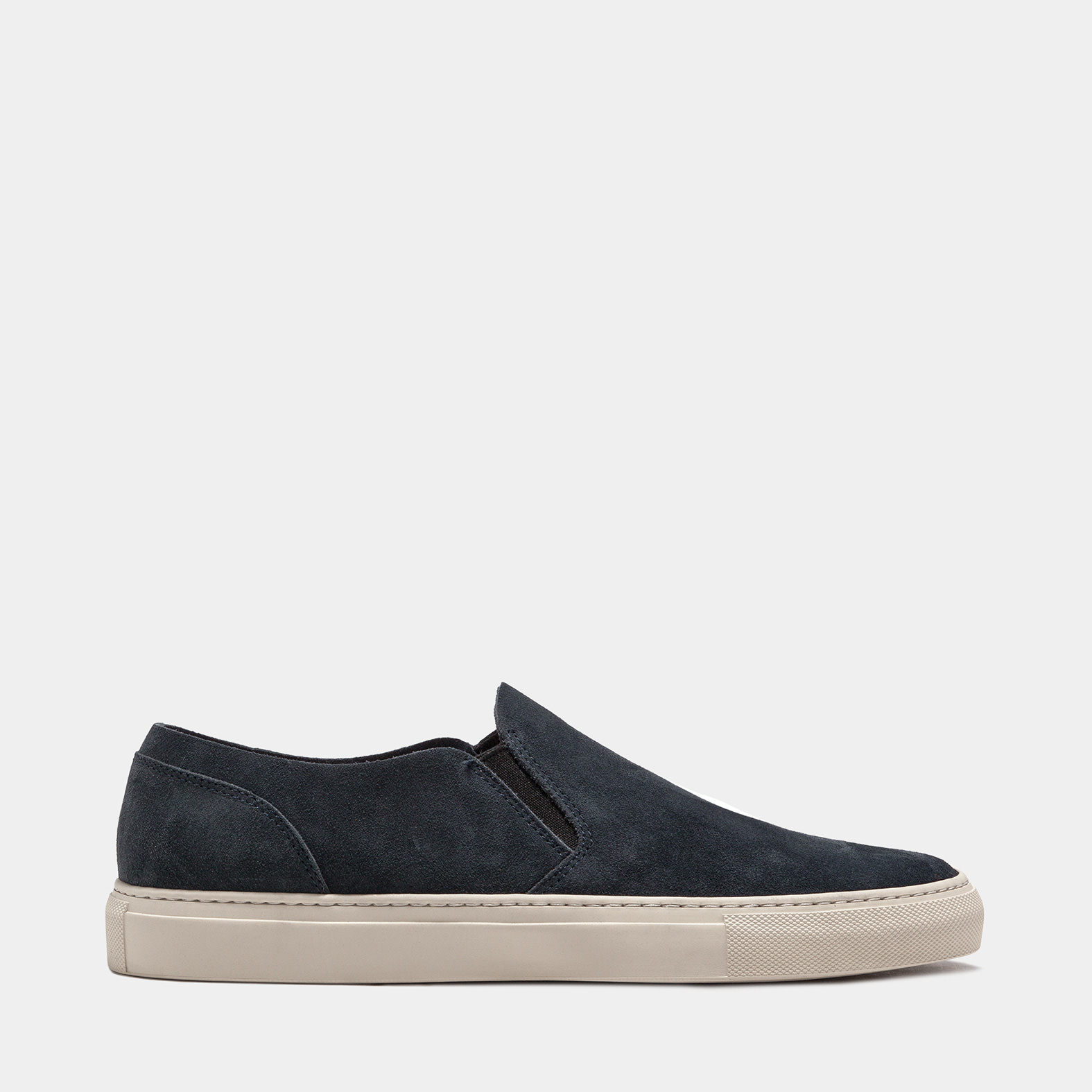 BUTTERO: STORM BLUE SUEDE TANINO SLIP ON
