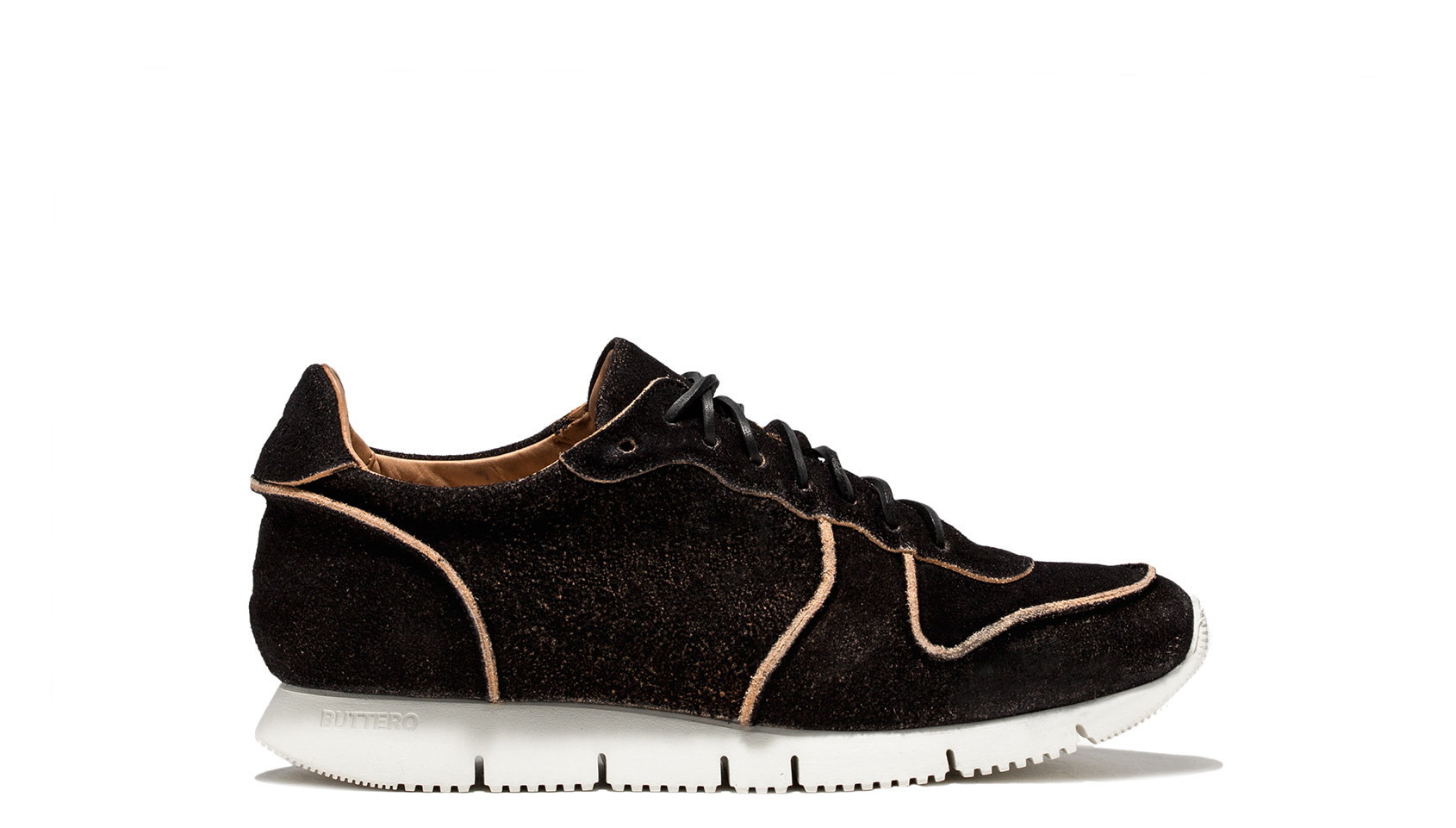 BUTTERO: SNEAKER CARRERA IN PELLE MONKEY NERO