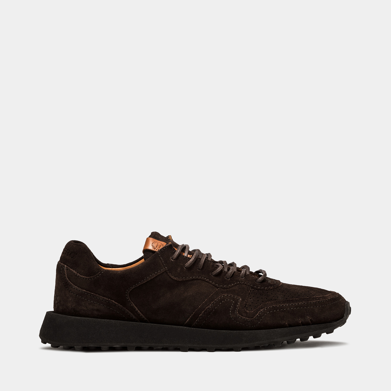 BUTTERO: FUTURA SNEAKERS IN PEPPER BROWN SUEDE