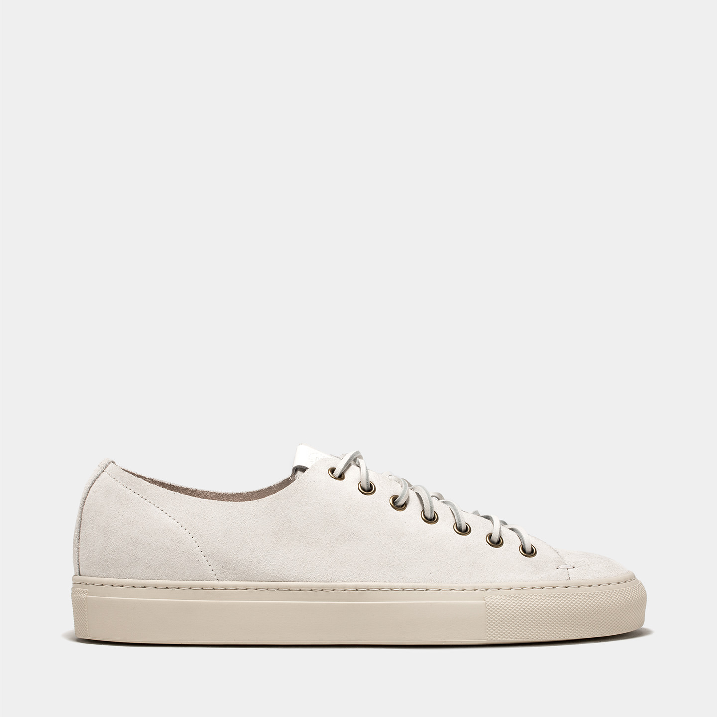BUTTERO: WHITE SUEDE TANINO SNEAKERS