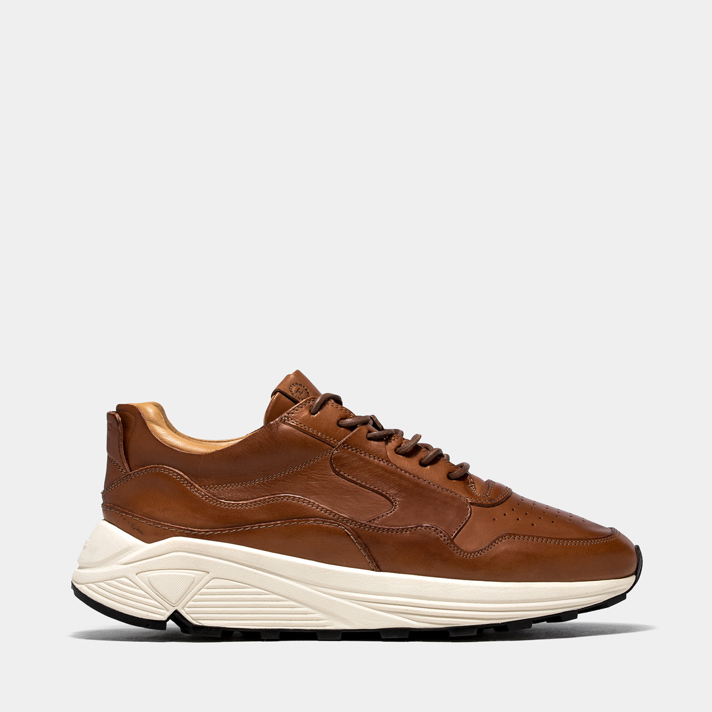BUTTERO: VINCI RUNNING IN NATURAL BROWN CALF LEATHER