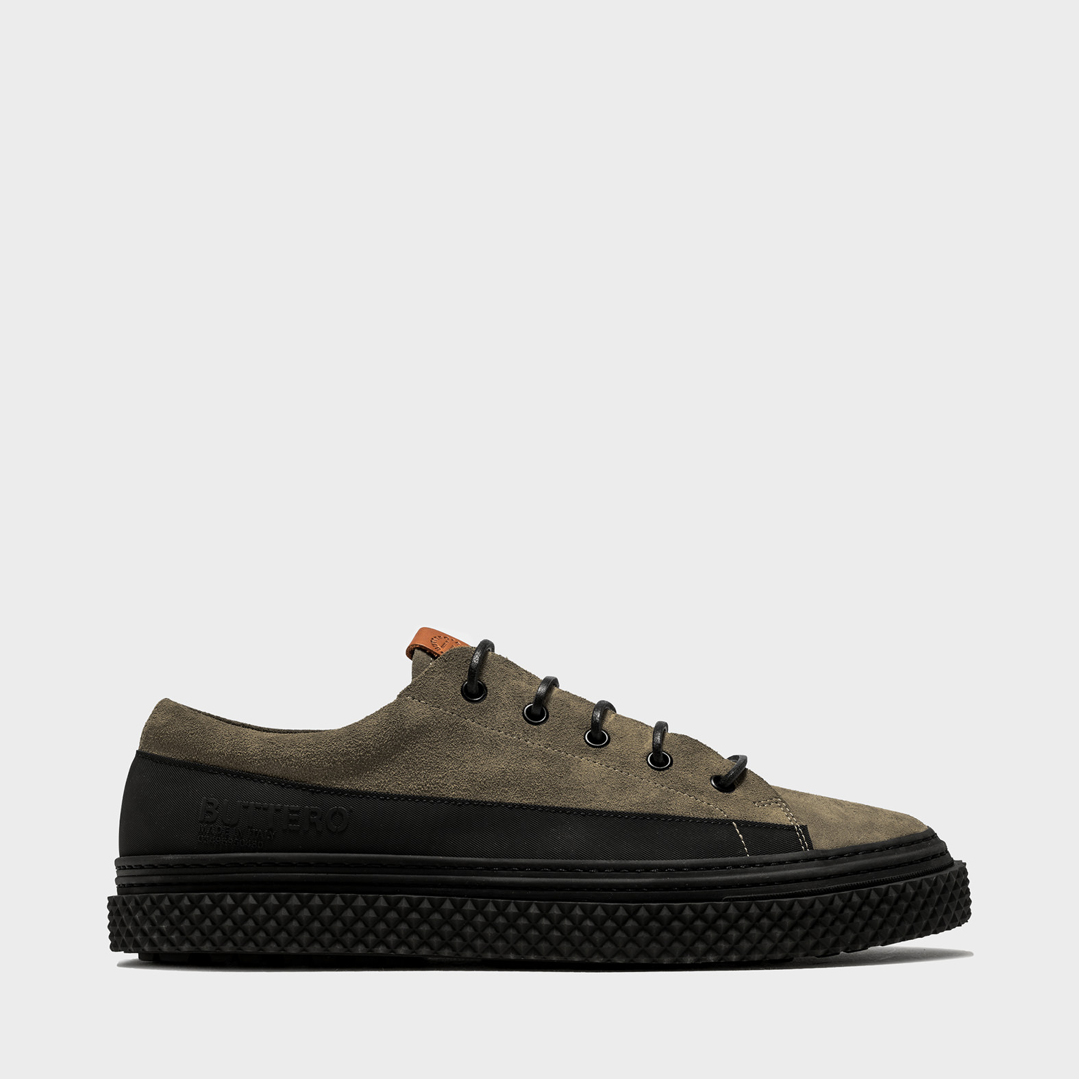 BUTTERO: BRIGATA SNEAKERS IN FOREST GREEN SUEDE