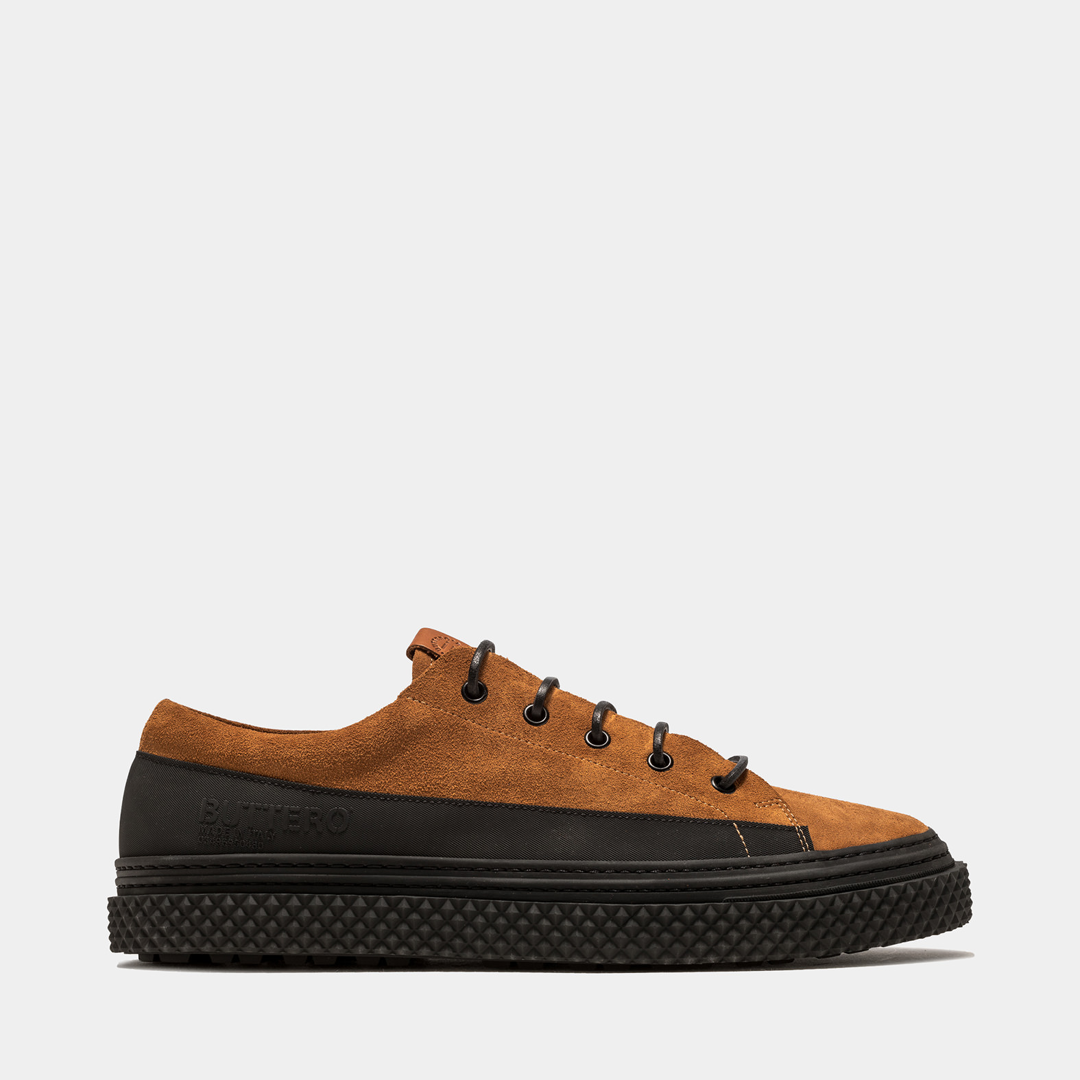 BUTTERO: SNEAKERS BRIGATA IN SUEDE TERRA