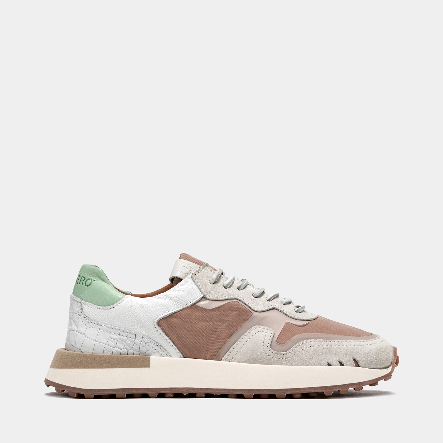 BUTTERO: FUTURA SNEAKERS IN? PINK MIXED LEATHER AND NYLON