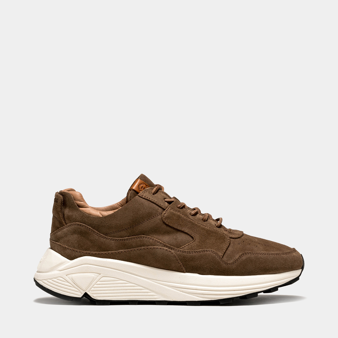 BUTTERO: VINCI SNEAKERS IN TABACCO BROWN SUEDE
