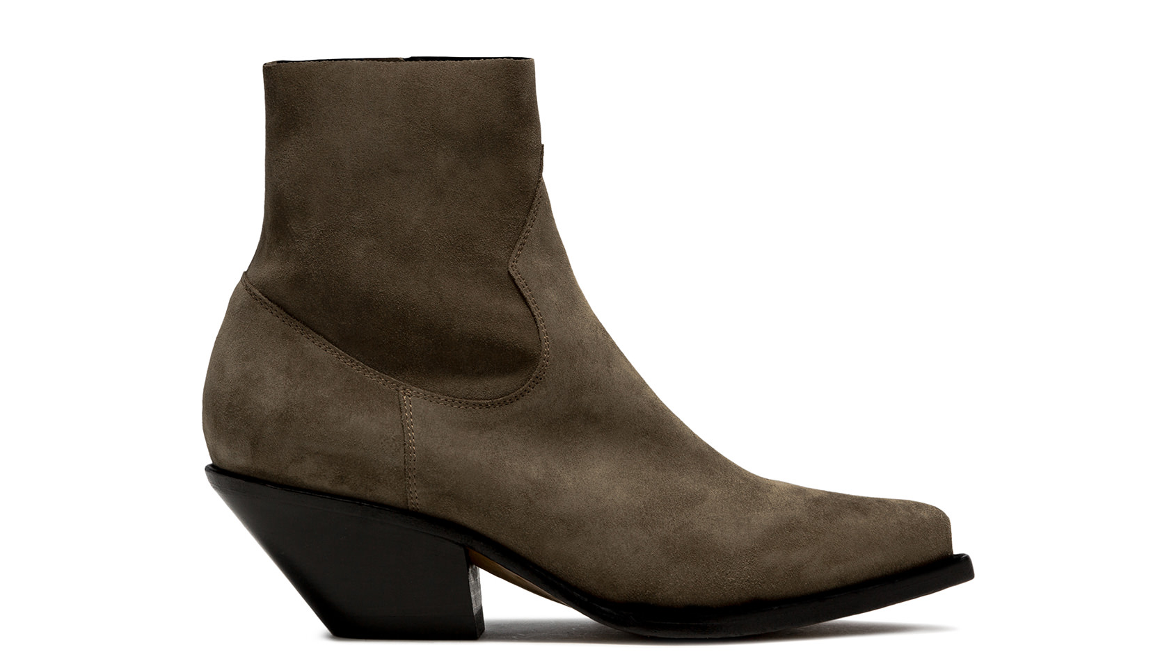 BUTTERO: ELISE LOW TOP BOOTS IN FOREST GREEN SUEDE