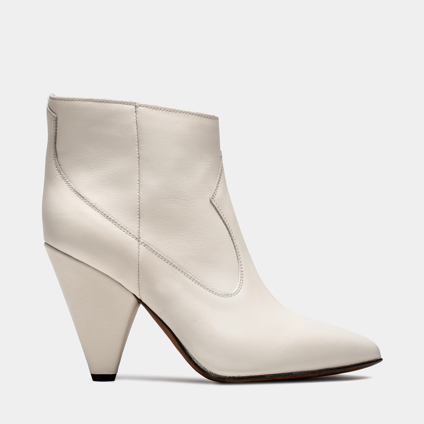 BUTTERO: WHITE LEATHER ROSE LOW TOP BOOTS