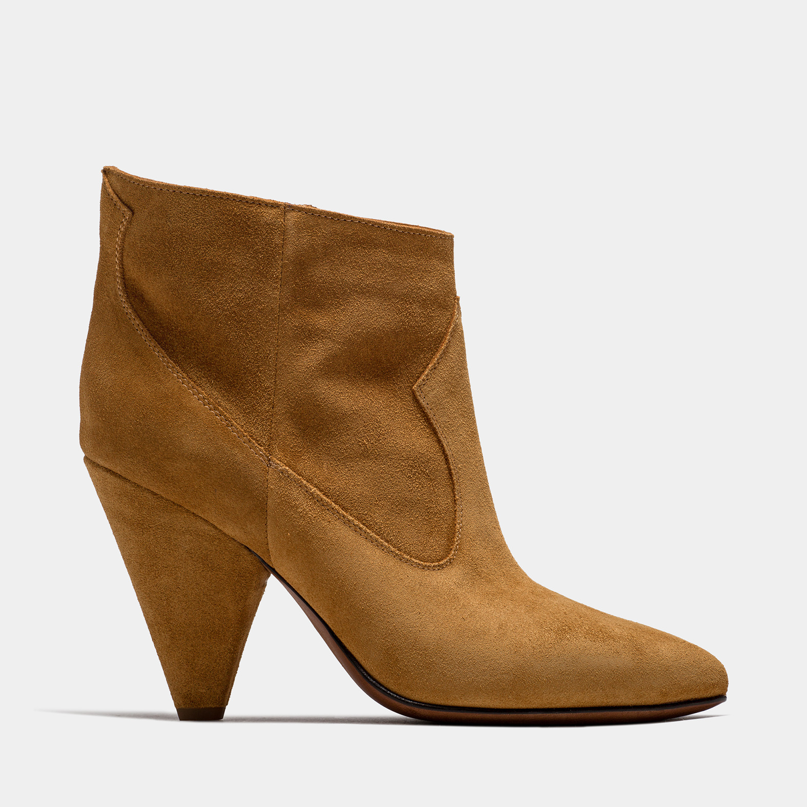BUTTERO: COPPER SUEDE ROSE LOW TOP BOOTS