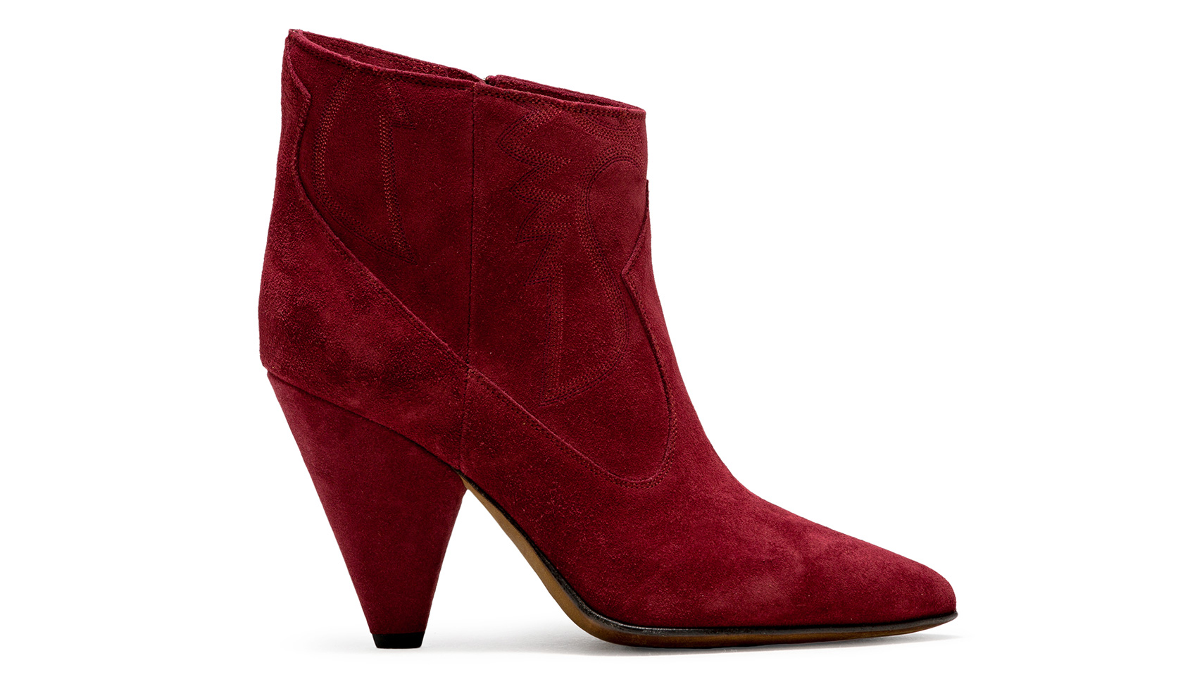 BUTTERO: RIO RED SUEDE ROSE LOW TOP BOOTS