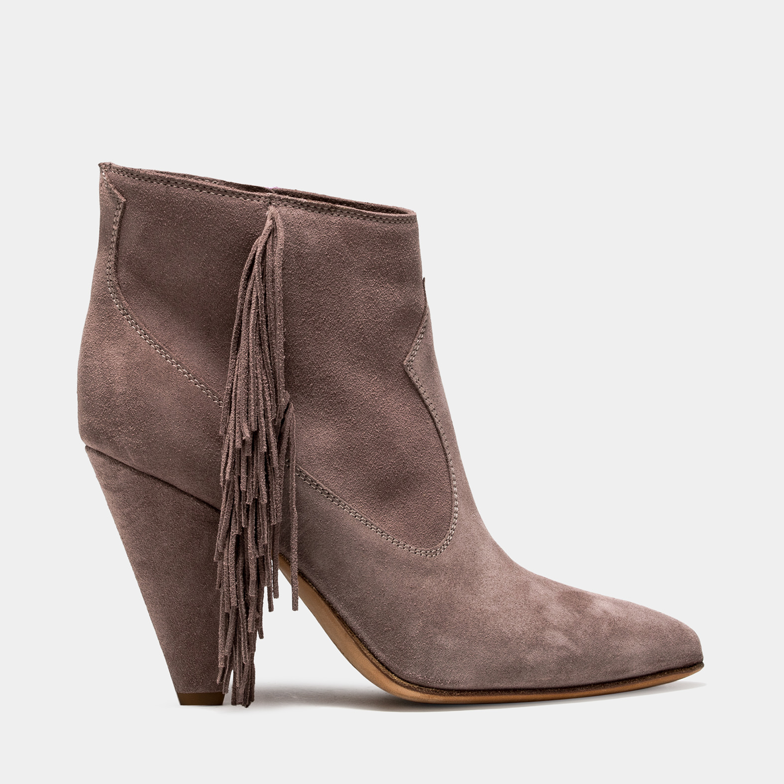 BUTTERO: SPHINX GREY SUEDE ROSE LOW TOP BOOTS