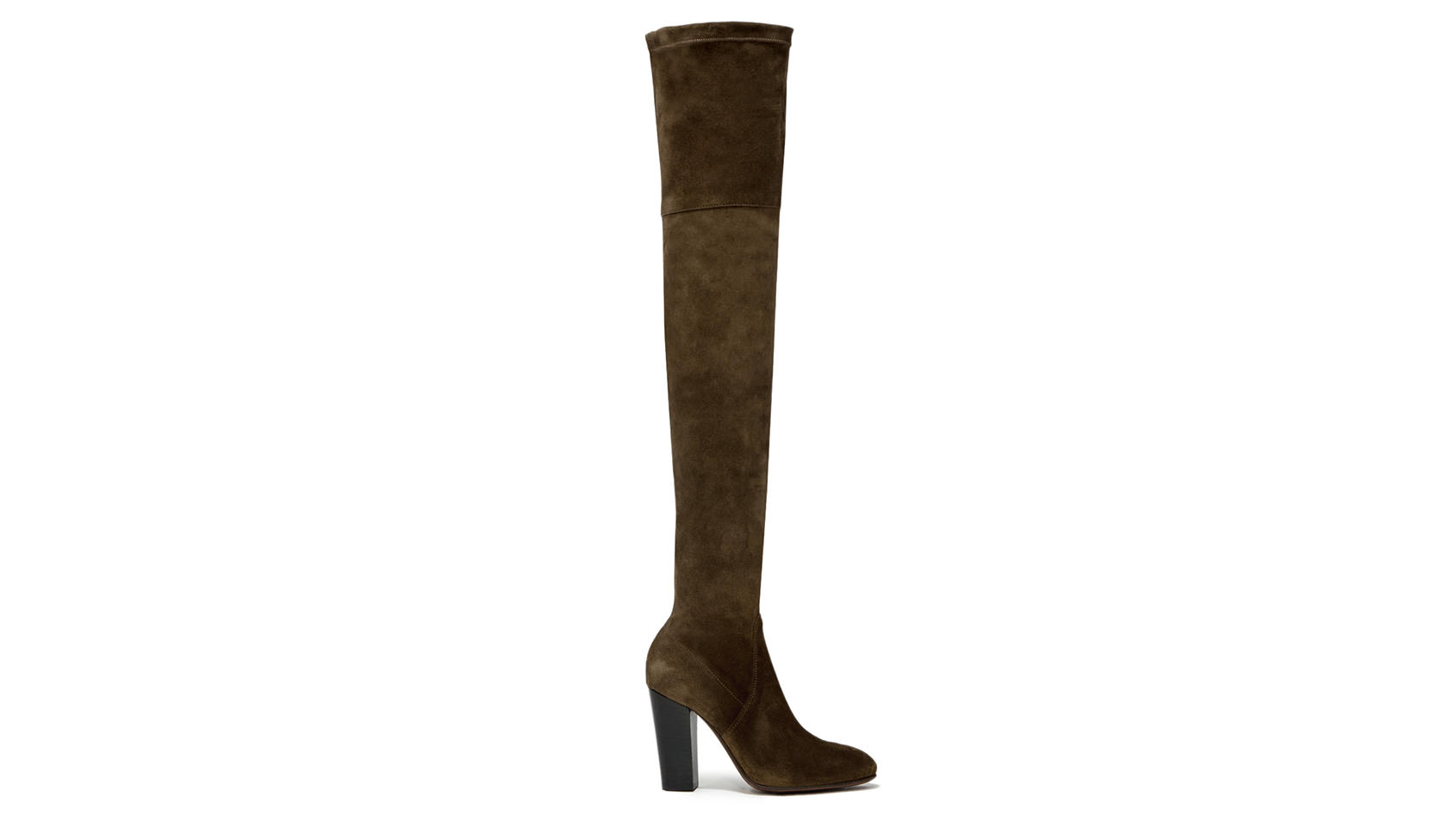 BUTTERO: SOHO CUISSARDES BOOTS IN CAPER GREEN SUEDE