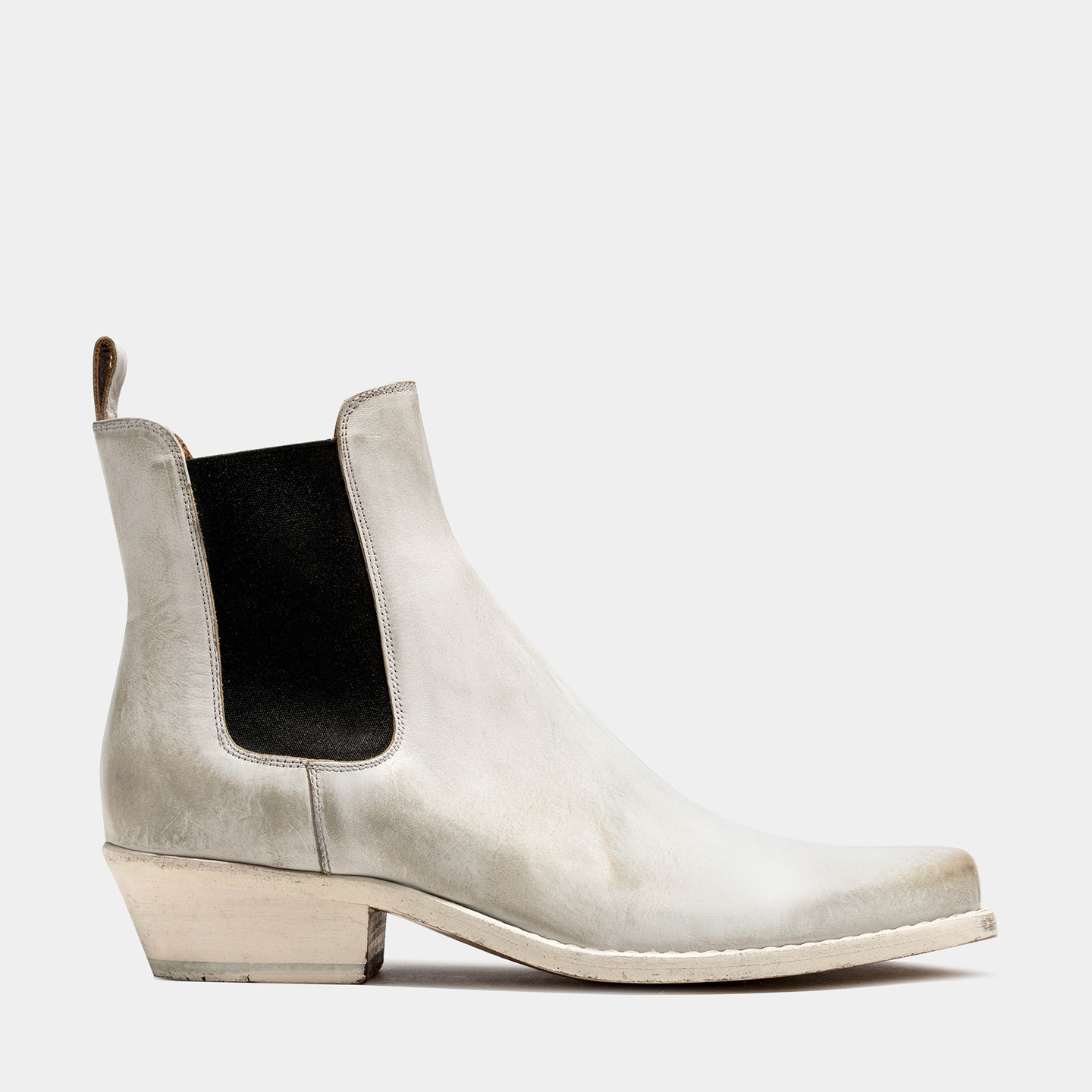 BUTTERO: DALTON? BOOTS IN WHITE LEATHER