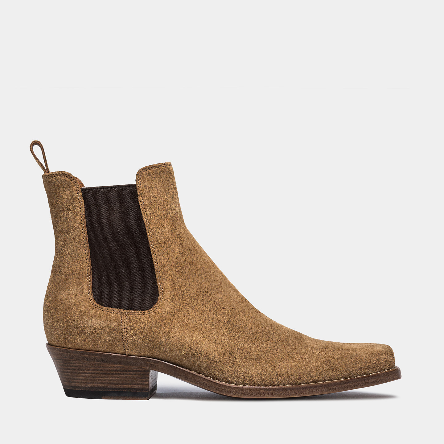 BUTTERO: DALTON BOOTS IN COPPER COLOR SUEDE