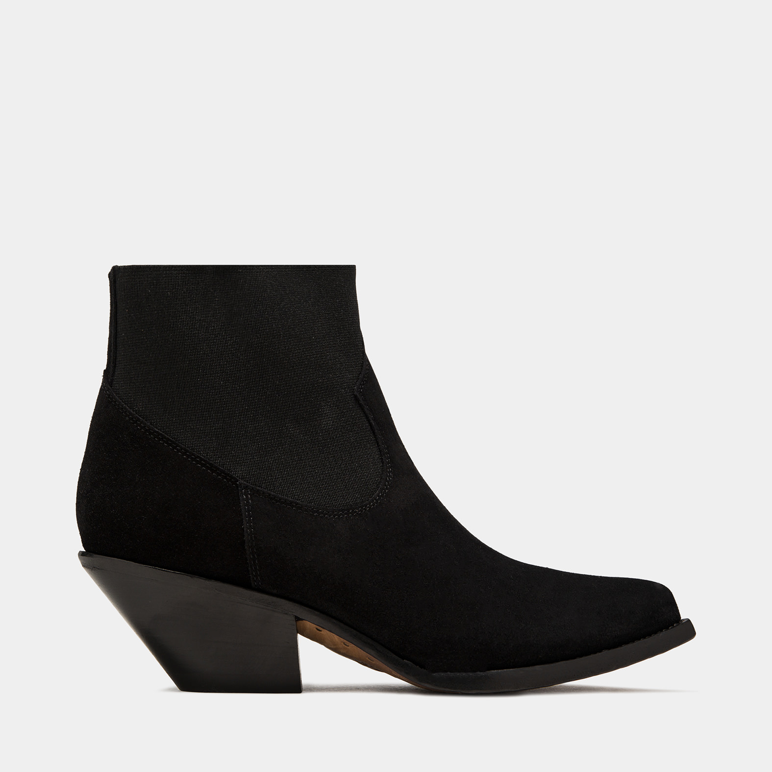 BUTTERO: BLACK ELISE ANKLE BOOTS IN SUEDE