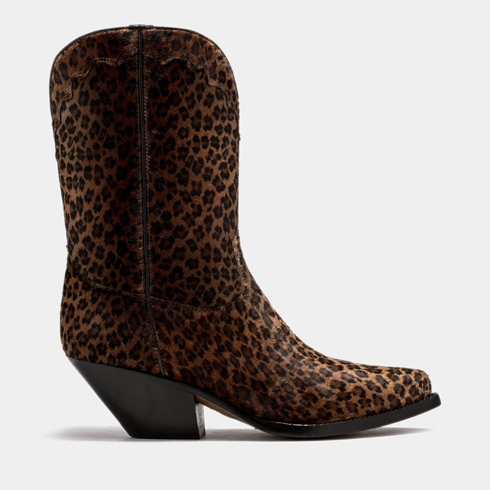 BUTTERO: ELISE DURANGO BOOTS IN SPOTTED PONY SKIN