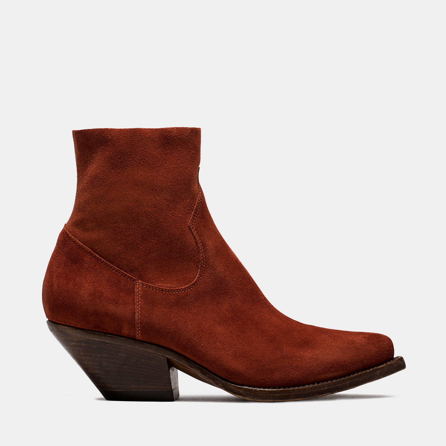 BUTTERO: ELISE DURANGO BOOTS IN STRETCH SUEDE COLOR BRANDY