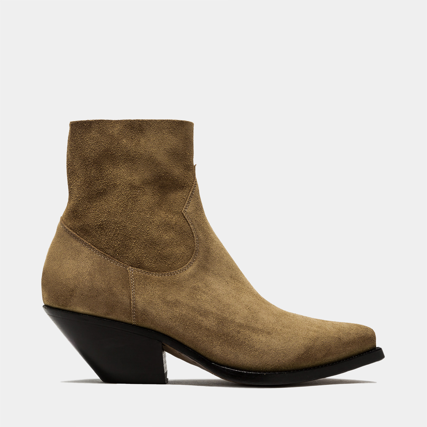 BUTTERO: STIVALE ELISE TEXANO BASSO IN SUEDE PLANTATION