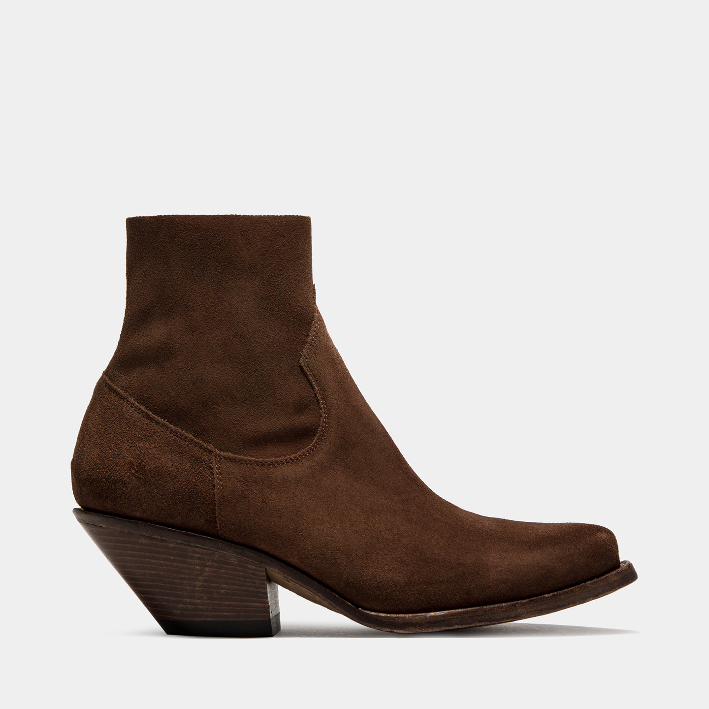 BUTTERO: ELISE DURANGO BOOTS IN STRETCH SUEDE COLOR NATURAL BROWN