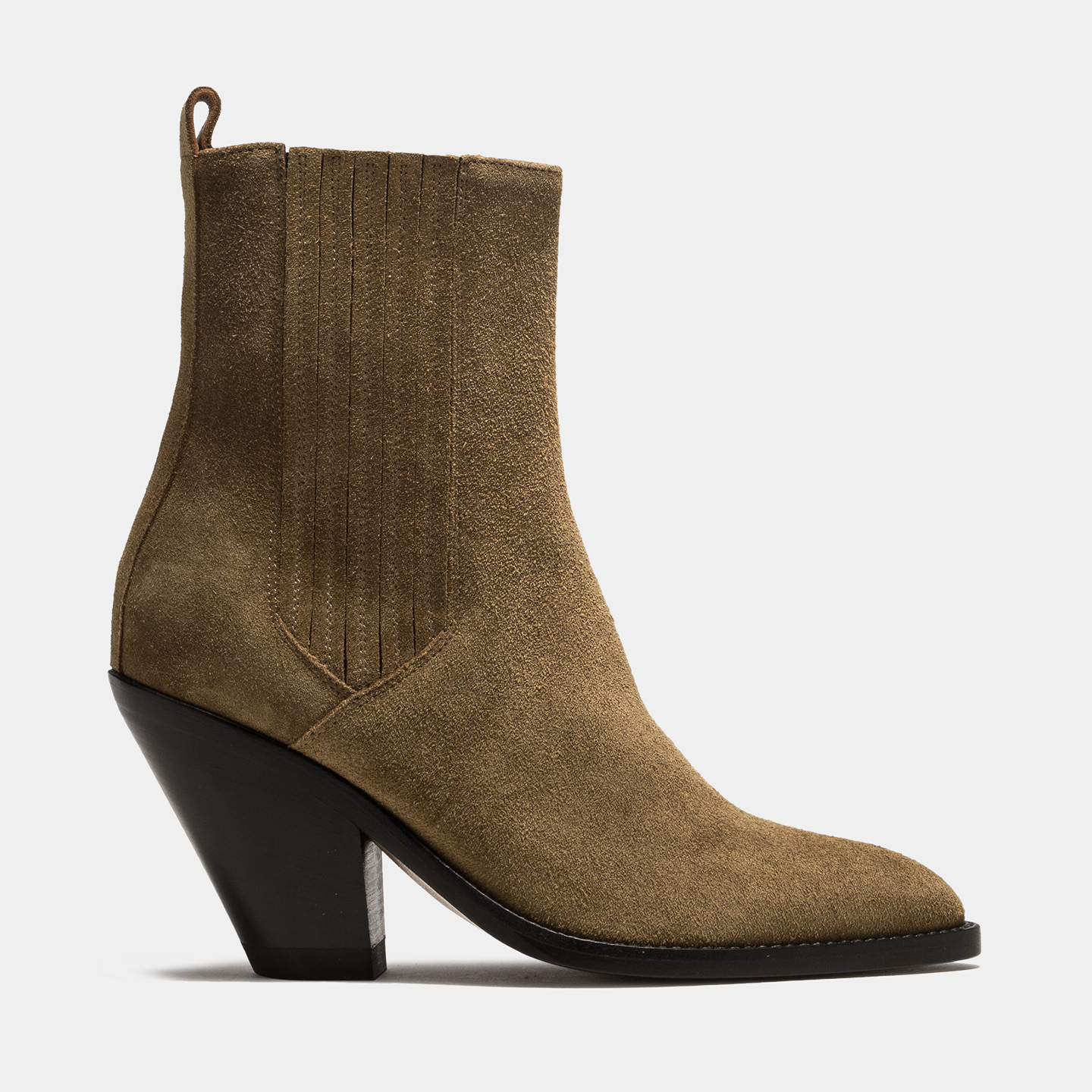 BUTTERO: JANE BOOTS IN PLANTATION GREEN SUEDE